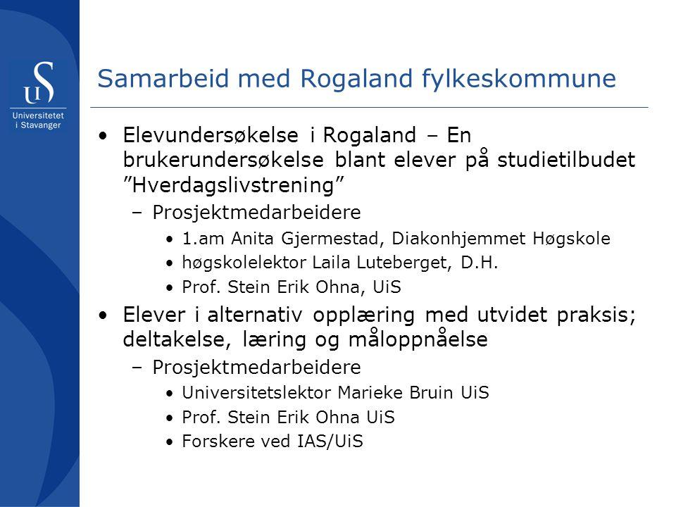 Samarbeid med Rogaland fylkeskommune