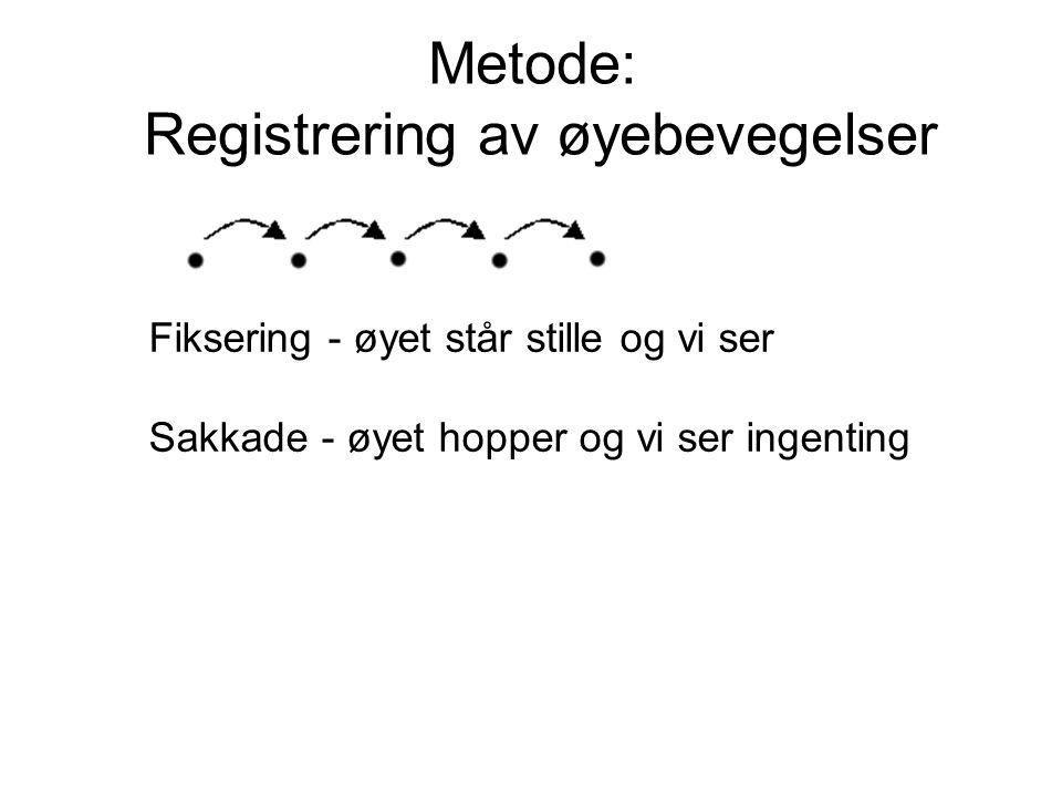 Metode: Registrering av øyebevegelser