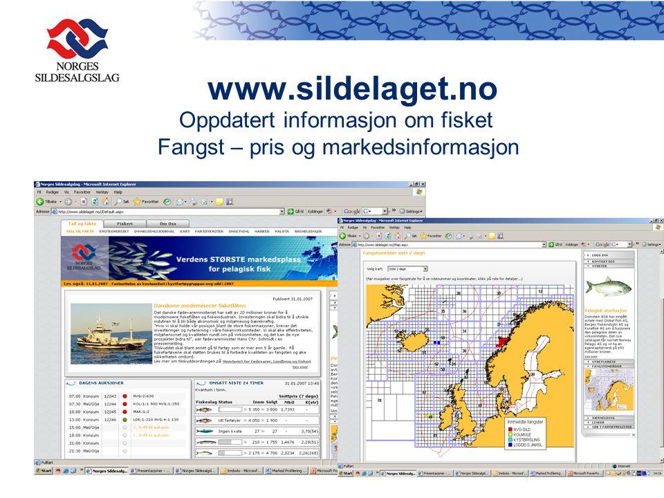 www.sildelaget.no Oppdatert informasjon om fisket