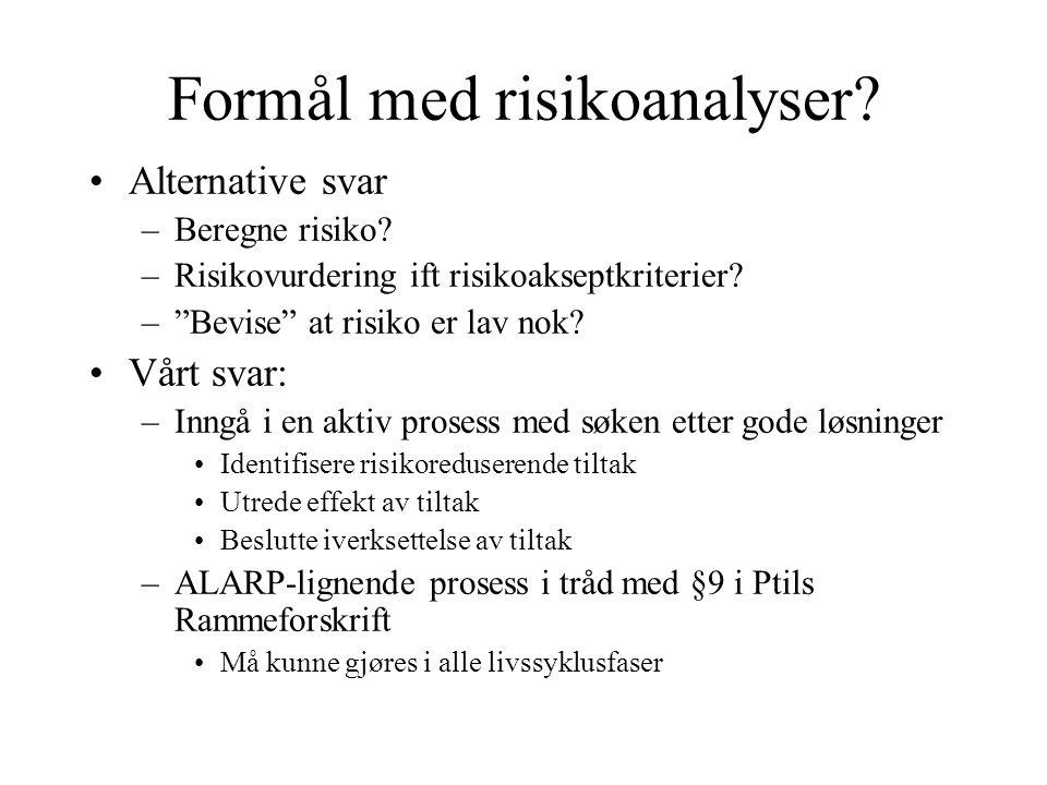 Formål med risikoanalyser