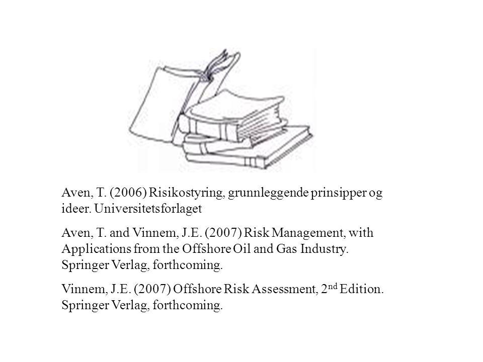 Aven, T. (2006) Risikostyring, grunnleggende prinsipper og ideer