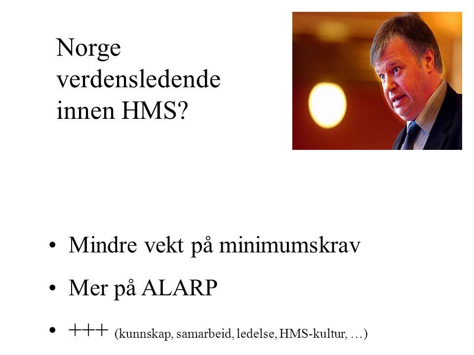 Norge verdensledende innen HMS