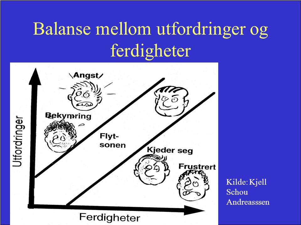 Balanse mellom utfordringer og ferdigheter