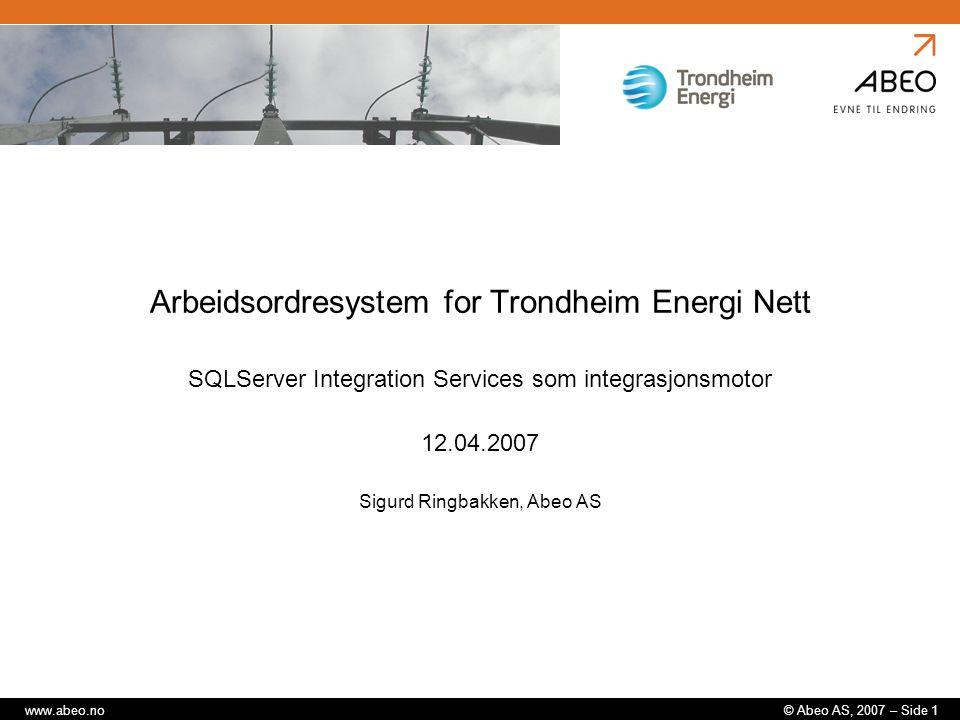 Arbeidsordresystem for Trondheim Energi Nett