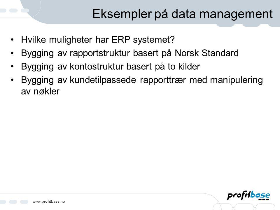 Eksempler på data management