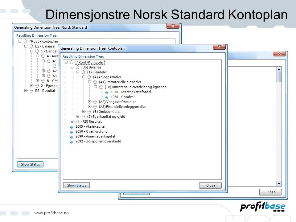Dimensjonstre Norsk Standard Kontoplan