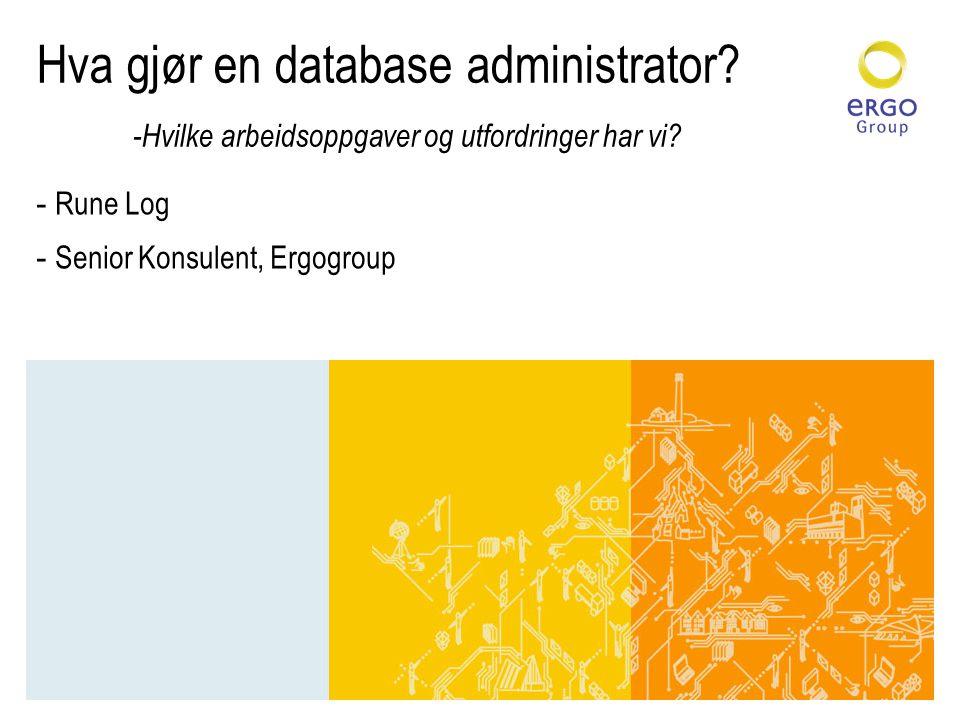 Rune Log Senior Konsulent, Ergogroup