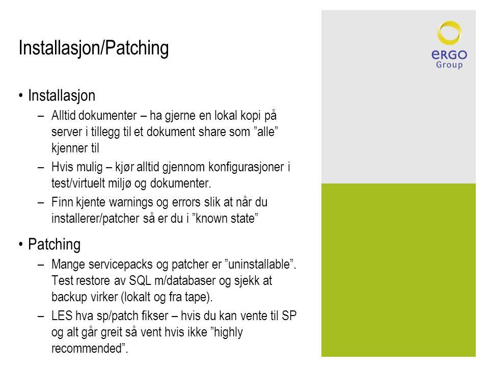 Installasjon/Patching