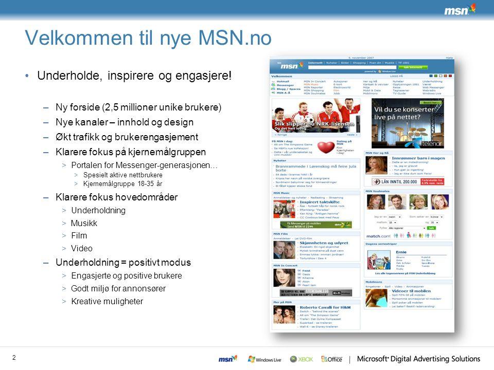 Velkommen til nye MSN.no
