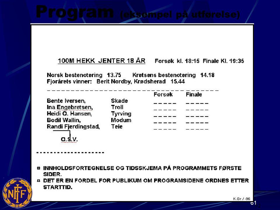Program (eksempel på utførelse)