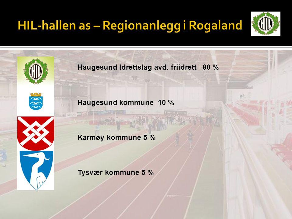 HIL-hallen as – Regionanlegg i Rogaland