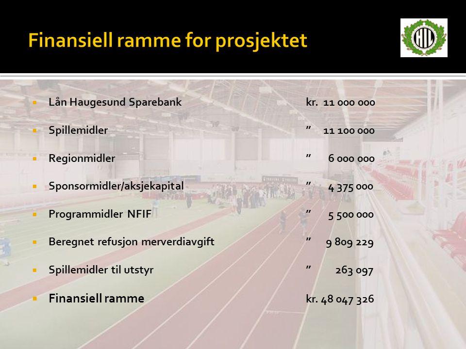 Finansiell ramme for prosjektet
