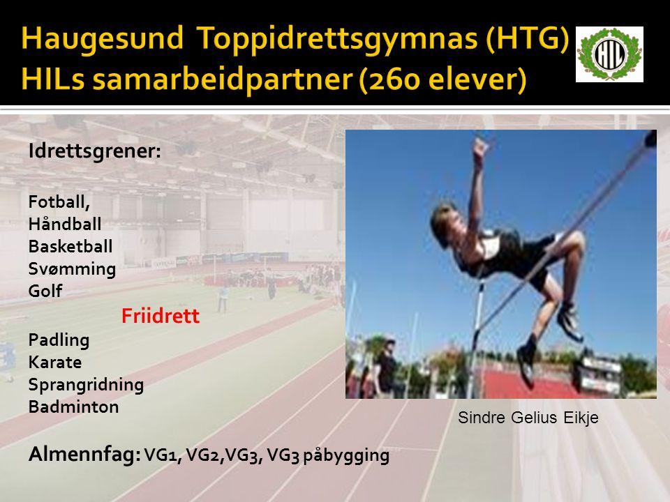 Haugesund Toppidrettsgymnas (HTG) HILs samarbeidpartner (260 elever)