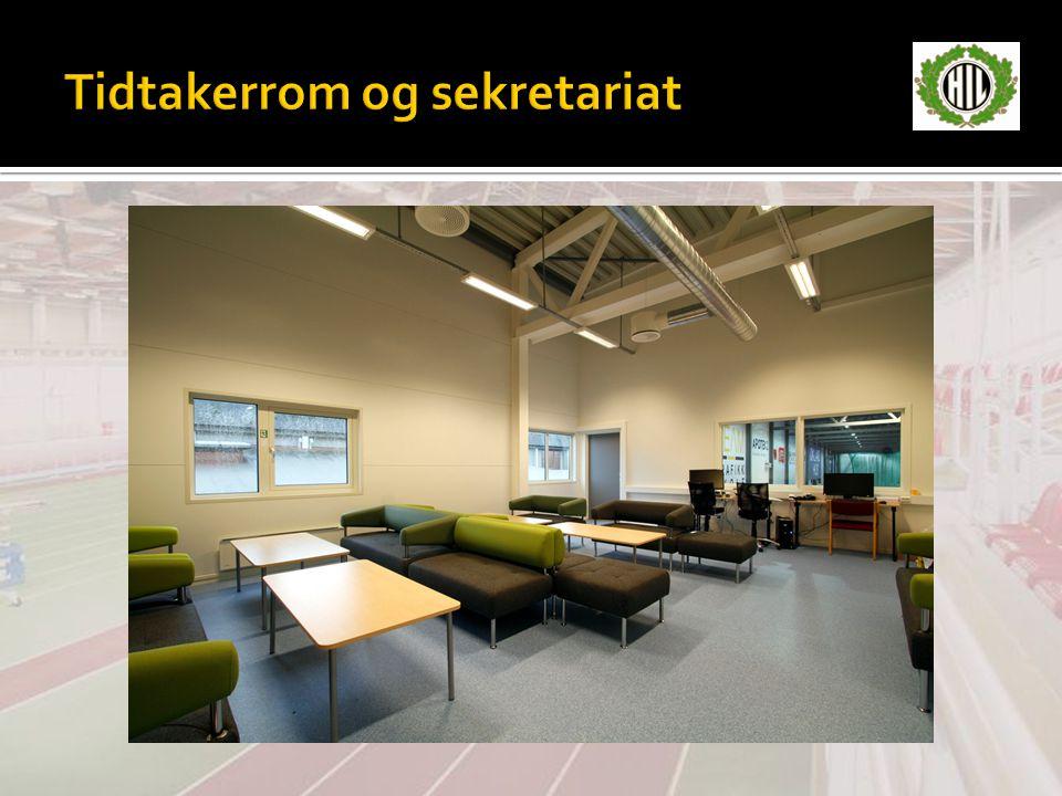 Tidtakerrom og sekretariat