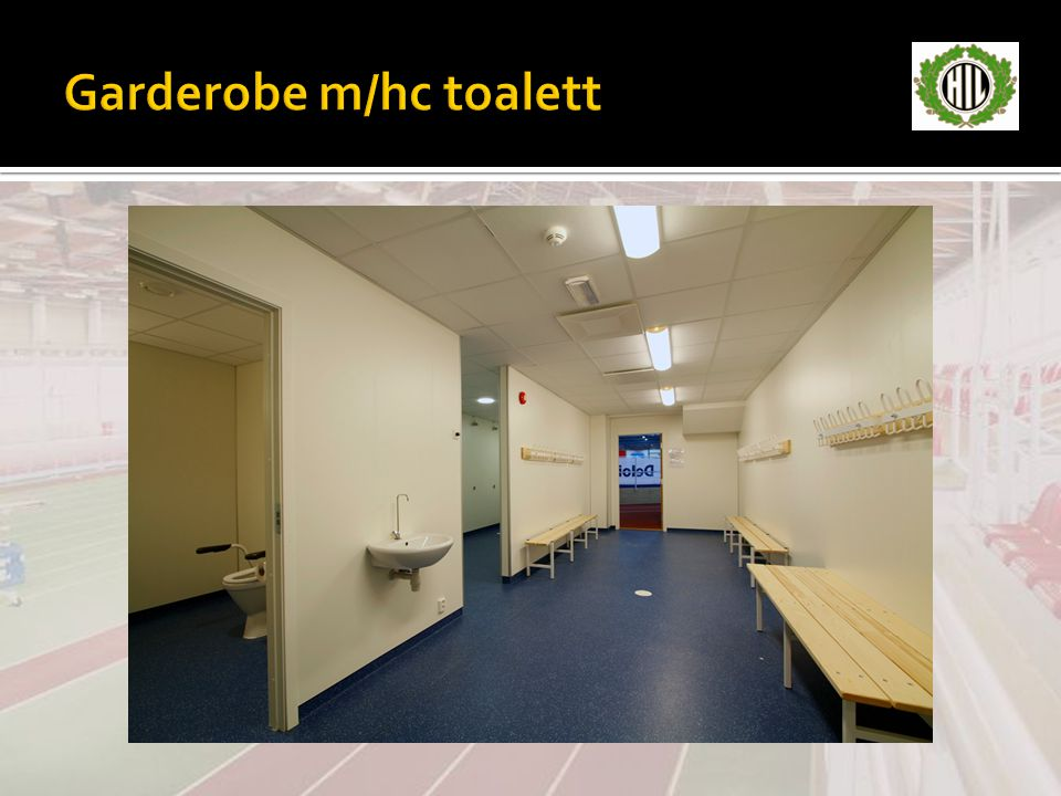 Garderobe m/hc toalett