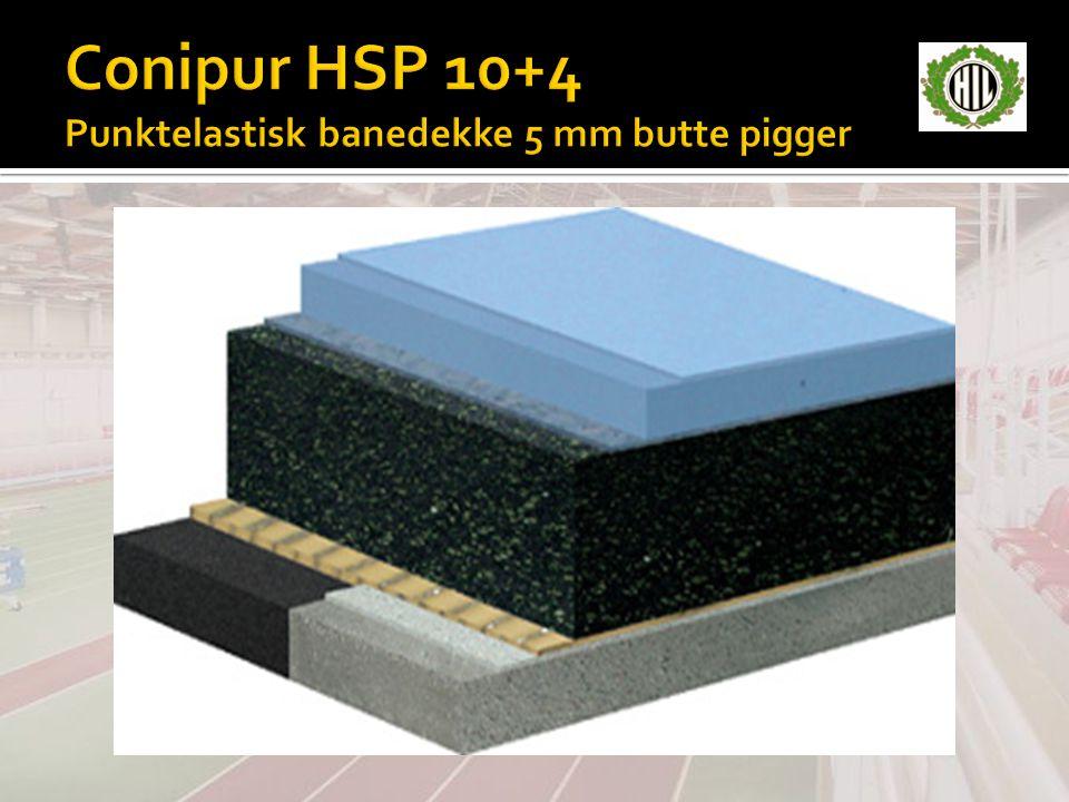 Conipur HSP 10+4 Punktelastisk banedekke 5 mm butte pigger