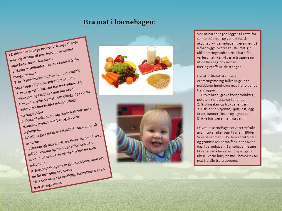 Bra mat i barnehagen: