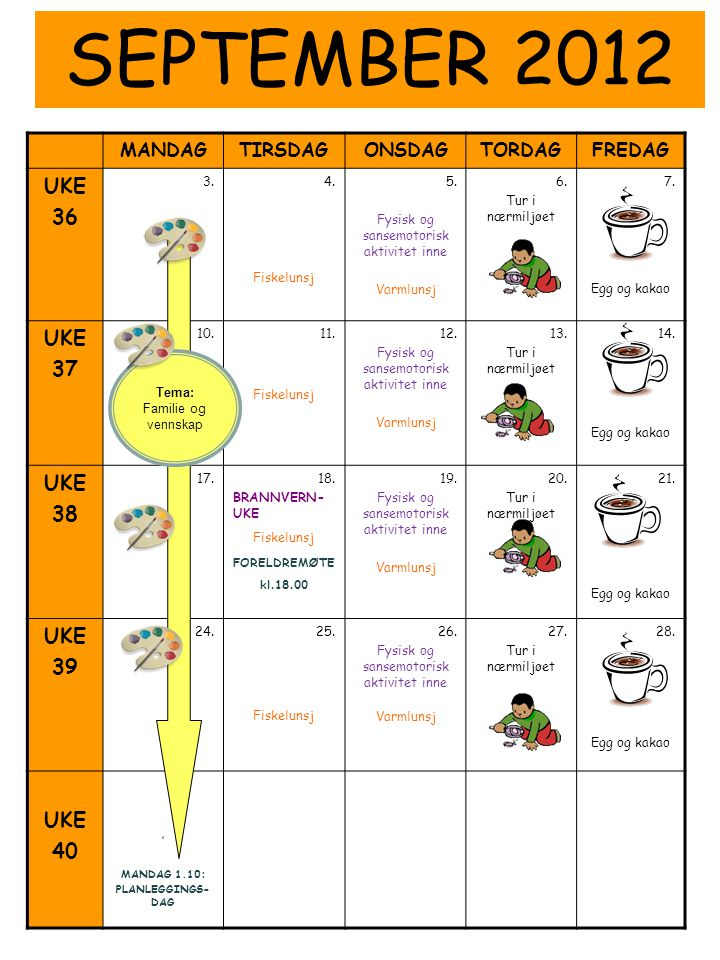 Fysisk og sansemotorisk aktivitet inne