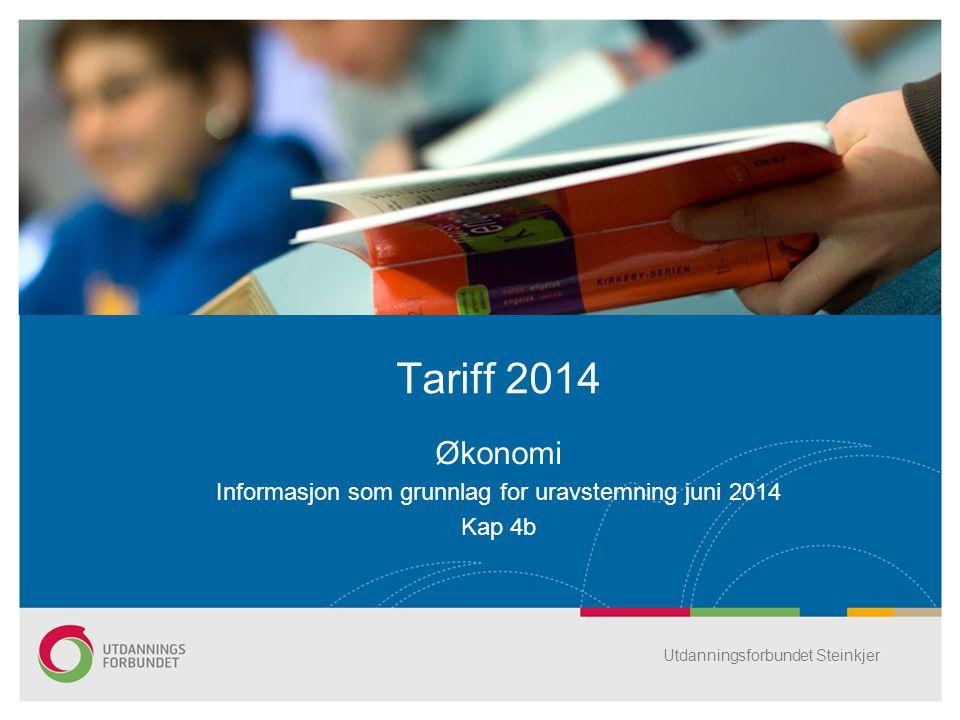 Økonomi Informasjon som grunnlag for uravstemning juni 2014 Kap 4b