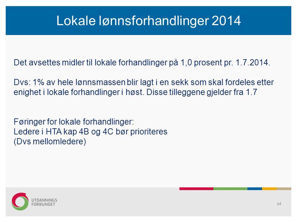 Lokale lønnsforhandlinger 2014