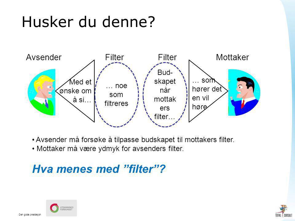 Bud-skapet når mottakers filter…