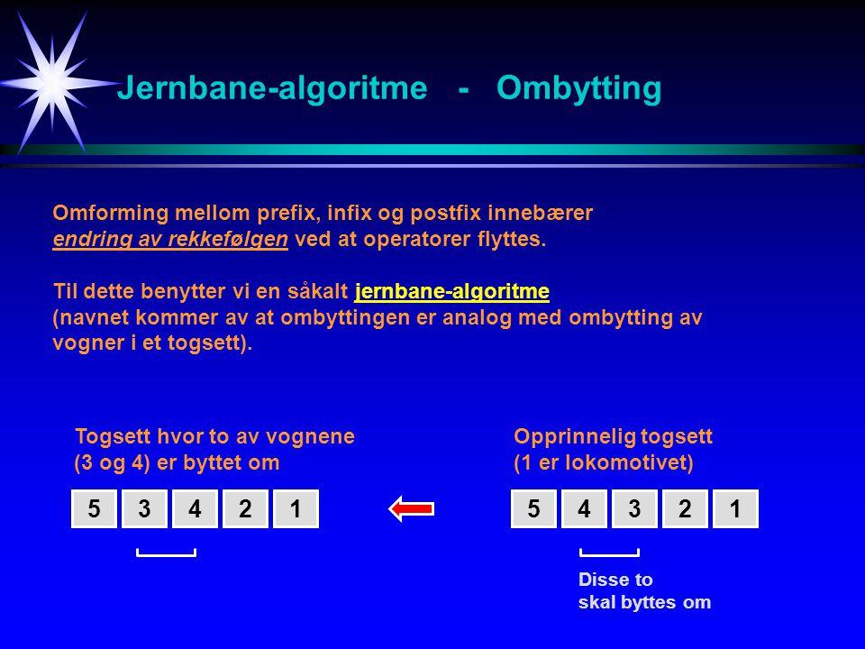 Jernbane-algoritme - Ombytting