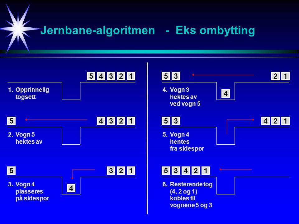 Jernbane-algoritmen - Eks ombytting