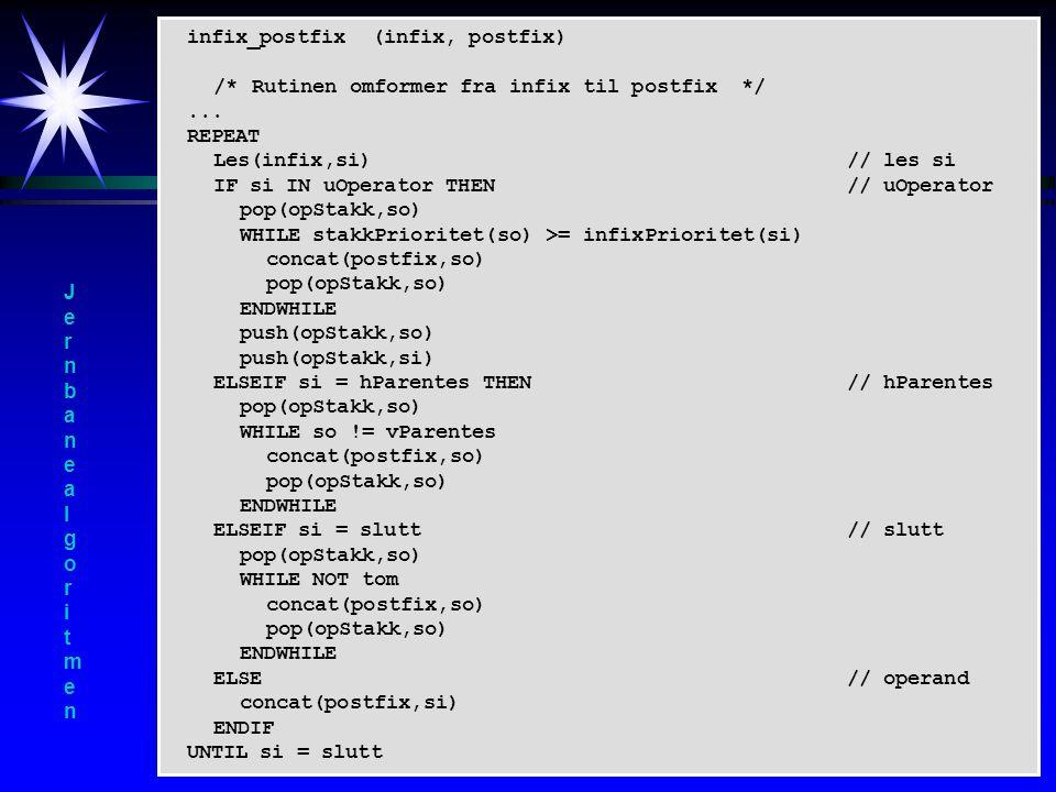 infix_postfix (infix, postfix)