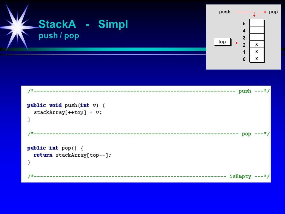 StackA - Simpl push / pop