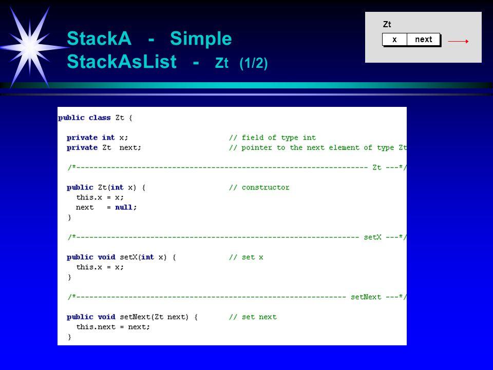 StackA - Simple StackAsList - Zt (1/2)