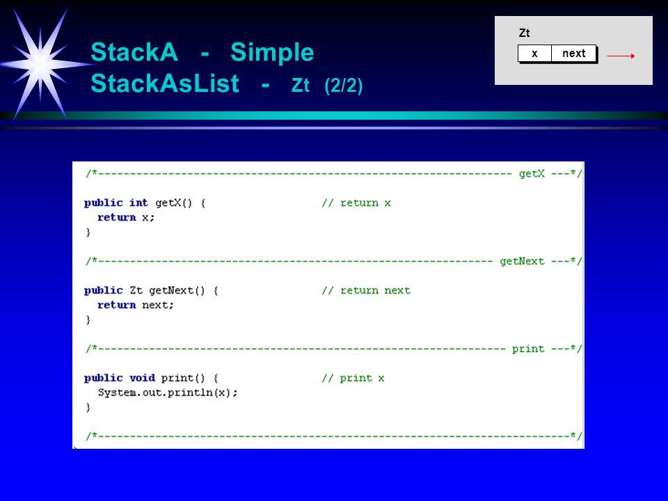 StackA - Simple StackAsList - Zt (2/2)