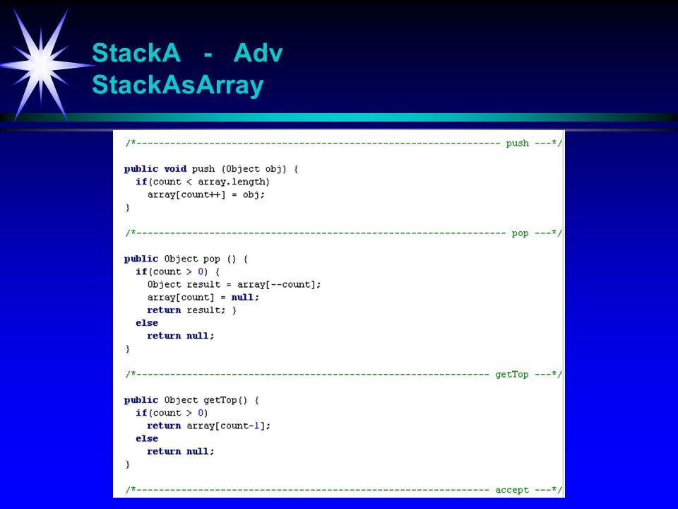 StackA - Adv StackAsArray