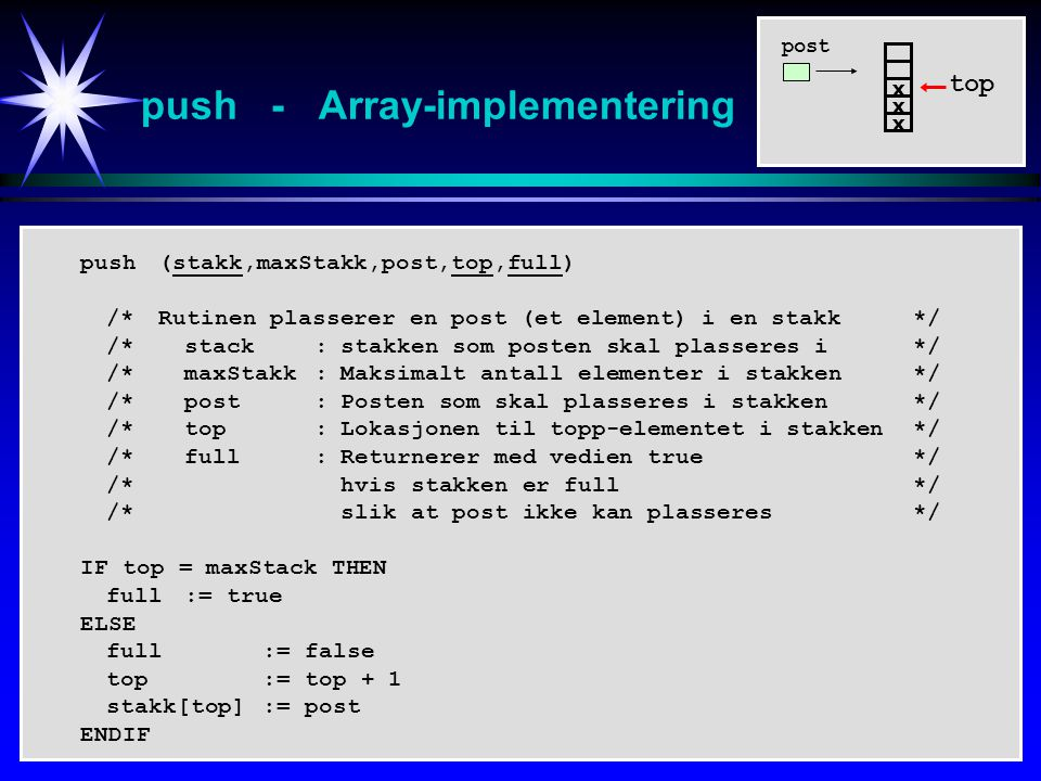 push - Array-implementering