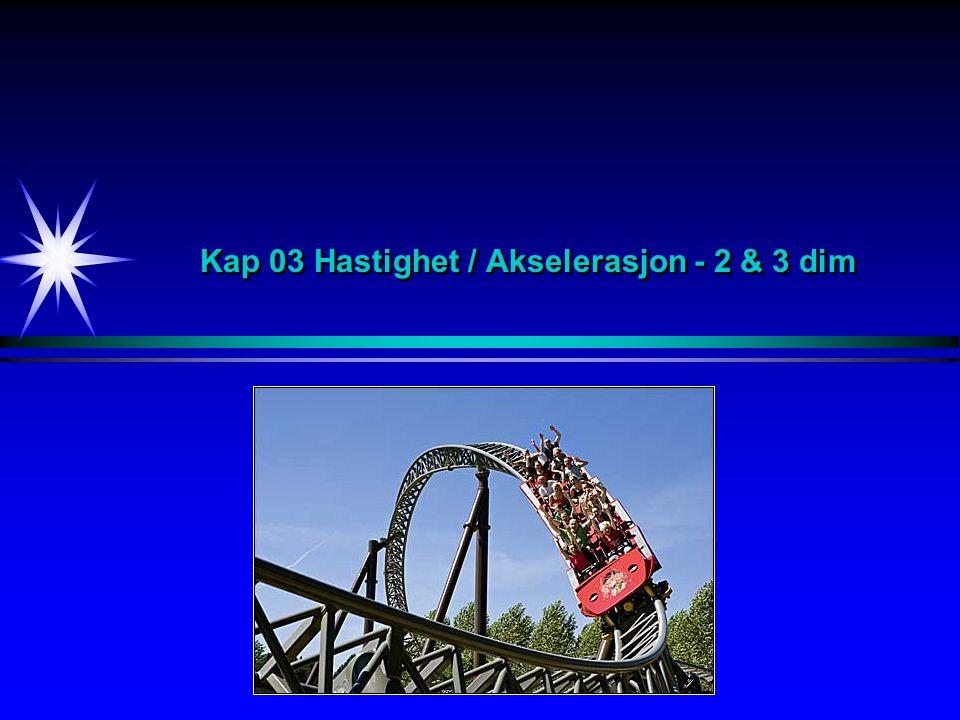 Kap 03 Hastighet / Akselerasjon - 2 & 3 dim