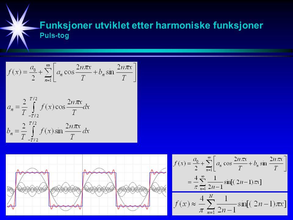Funksjoner utviklet etter harmoniske funksjoner Puls-tog
