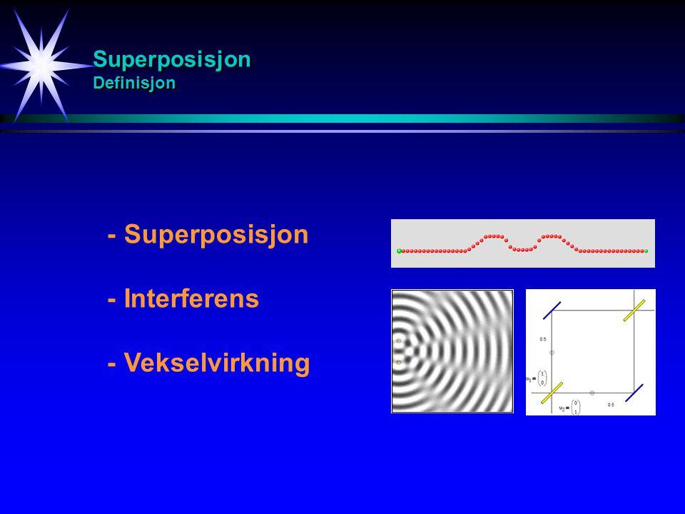 Superposisjon Definisjon