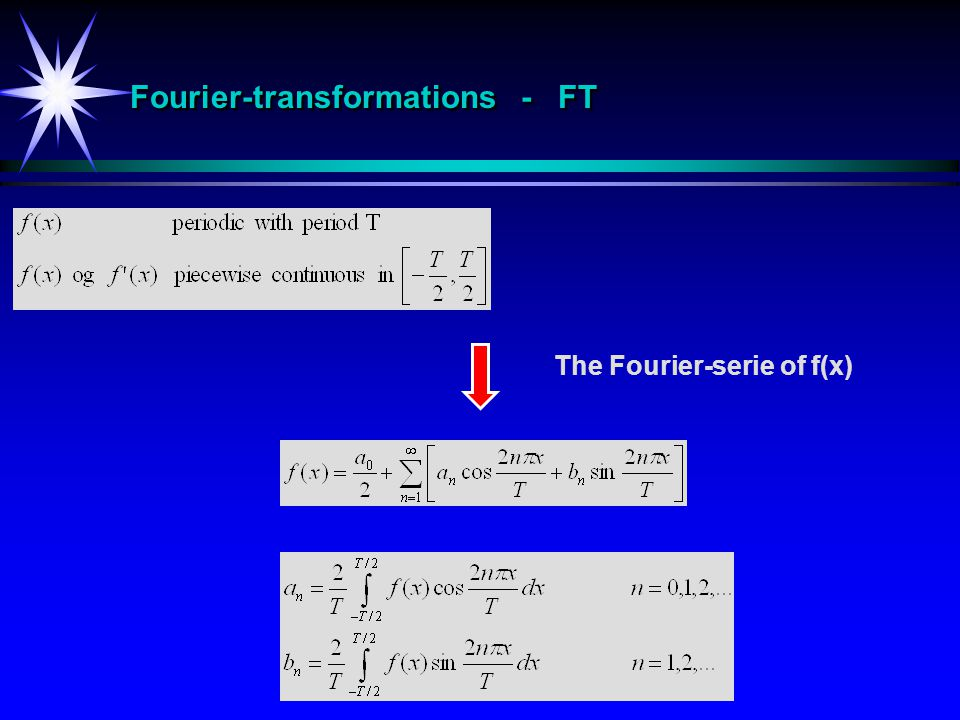 Fourier-transformations - FT