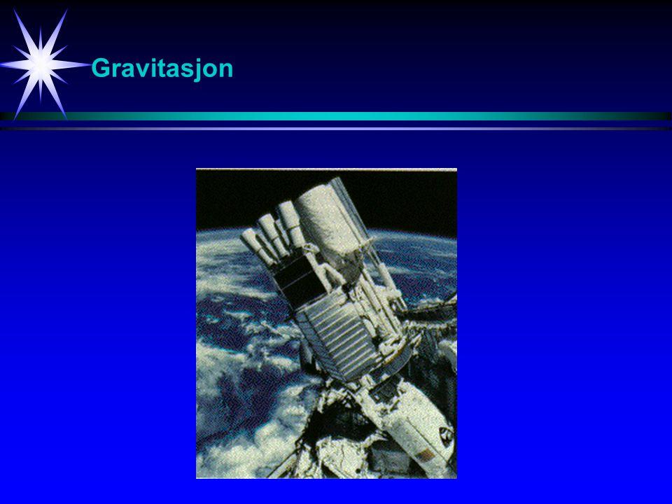 Gravitasjon De påfølgende bildene viser ulike eksempler fra fysikken.