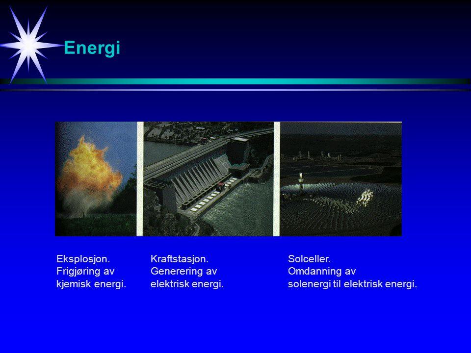 Energi Eksplosjon. Frigjøring av kjemisk energi. Kraftstasjon.