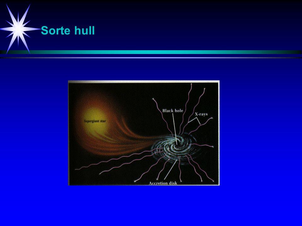 Sorte hull Studier av universet (her sorte hull).