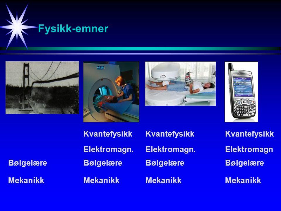 Fysikk-emner Kvantefysikk Kvantefysikk Kvantefysikk Elektromagn.