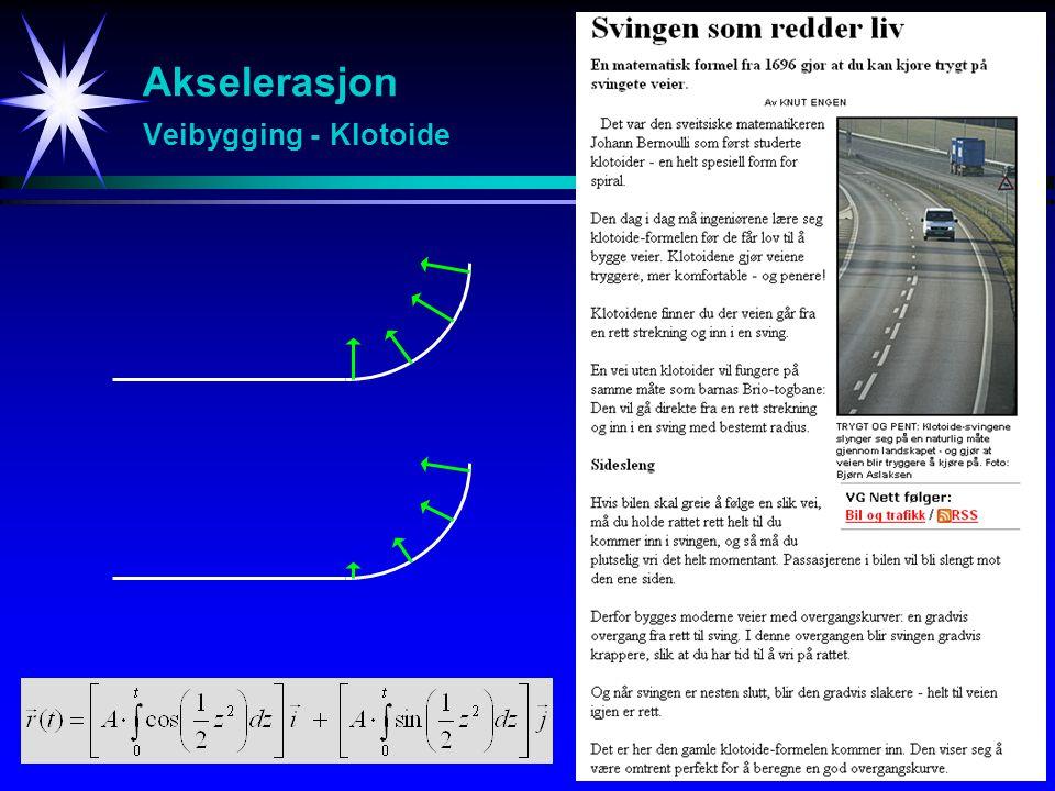 Akselerasjon Veibygging - Klotoide