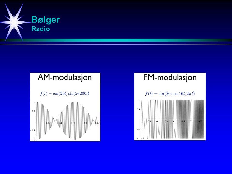 Bølger Radio Studier av svingninger (spesielt resonans)