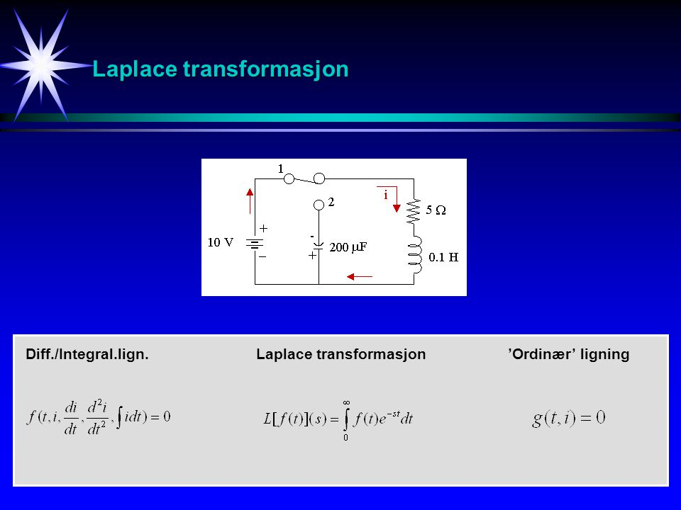 Laplace transformasjon