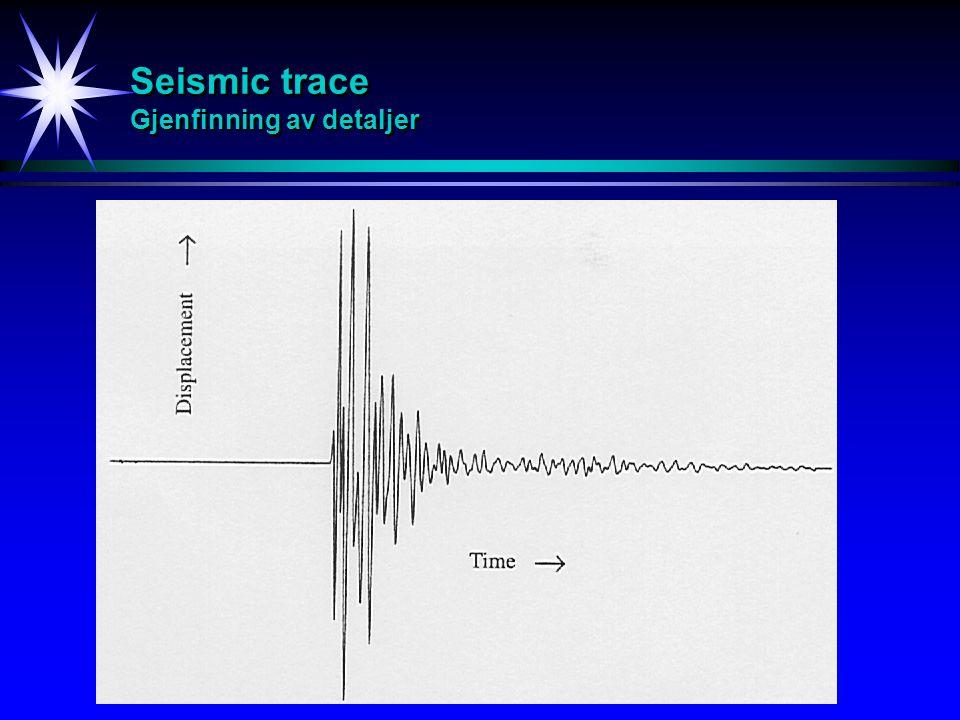 Seismic trace Gjenfinning av detaljer