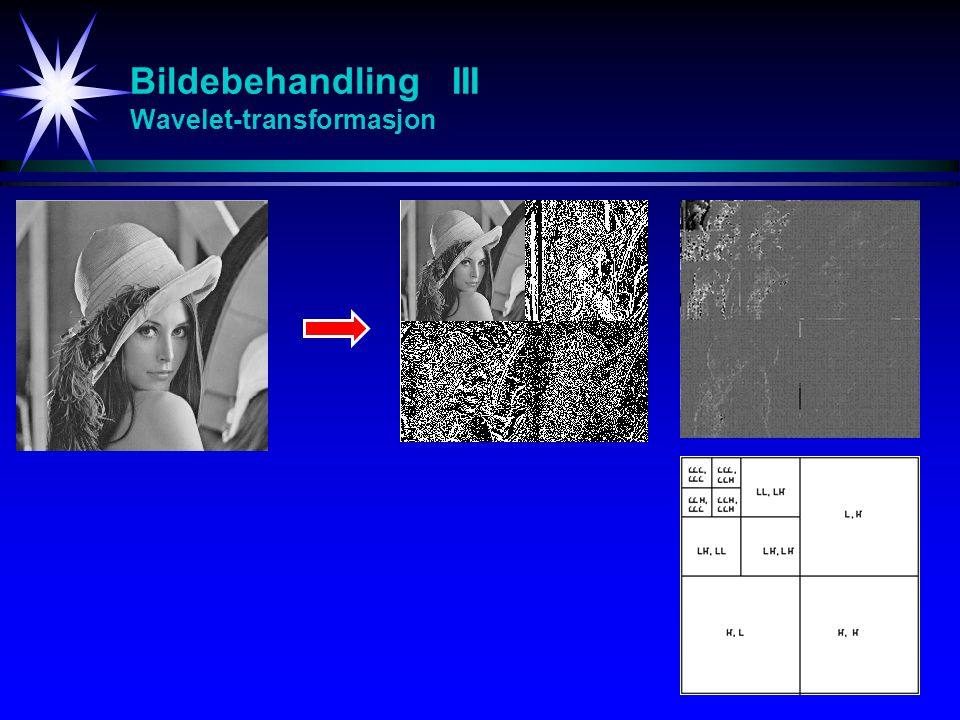 Bildebehandling III Wavelet-transformasjon