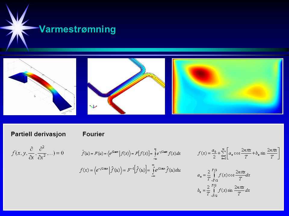 Varmestrømning Partiell derivasjon Fourier
