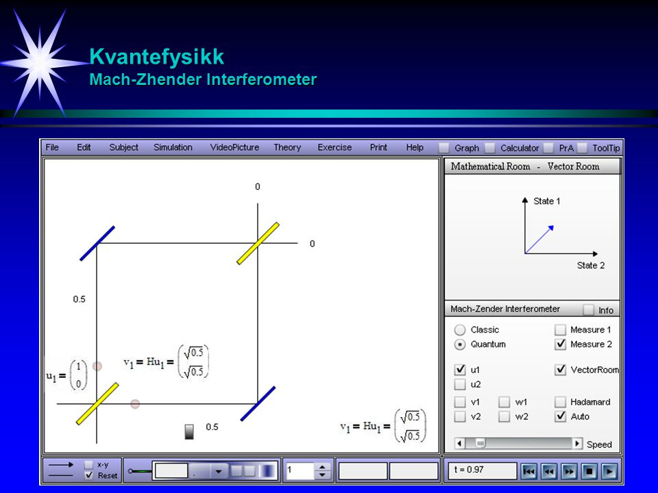 Kvantefysikk Mach-Zhender Interferometer