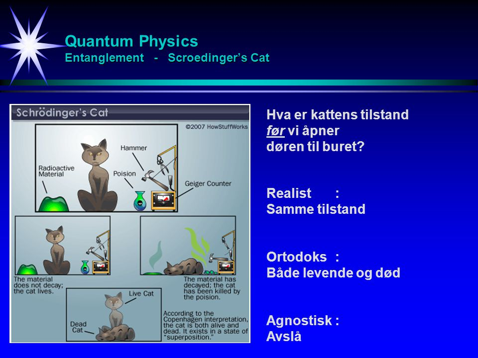 Quantum Physics Entanglement - Scroedinger's Cat