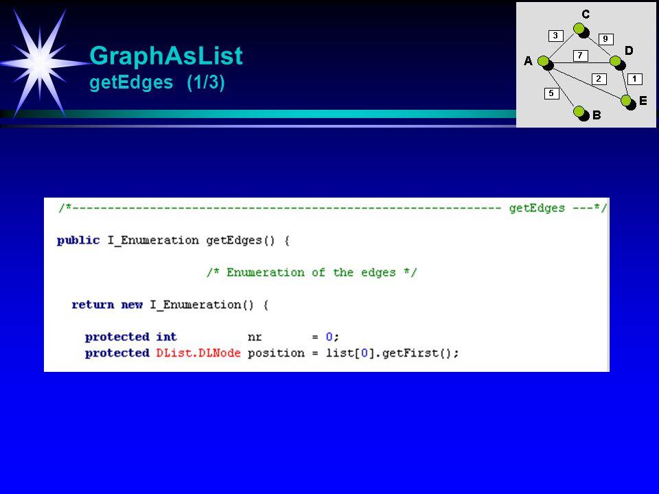 GraphAsList getEdges (1/3)